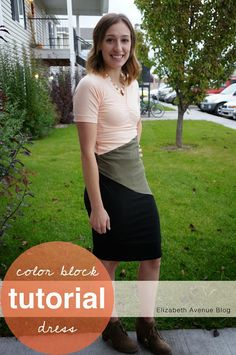 Elizabeth Avenue Blog: Color Block Dress Tutorial (with ruching)
