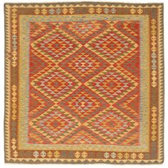 Les kilims afghans anciens sont noués à la main par des Turkmènes dans le nord de l'Afghanistan.  Ils sont fabriqués selon la technique traditionnelle du kilim, et l'on utilise une gamme de couleurs naturelles ainsi que des octogones et des symboles géométriques.