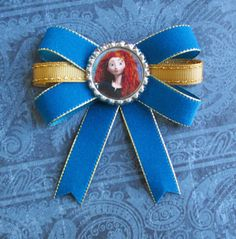 Princess Merida hair bow bottle cap headband disney summer vacation