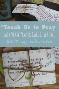 Are you intentionally teaching your kids to pray? Its simple with these prayer cards, each featuring a Bible verse to be prayed.