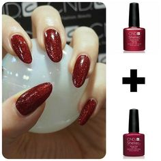 """#cndshellac #rubyritz and #rougerite a fab little party combo!! Would you wear these colours? #Jardines #nailexpert #cndgowithapro #cndworld #cndnails…"""