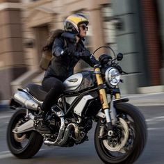 Order yours now and youll be riding into the new year with style! Ducati Scrambler, Ducati 1100, New Ducati, Scrambler Motorcycle, Triumph Cafe Racer, Cafe Racers, Biker Chick, Biker Girl, Lady Biker