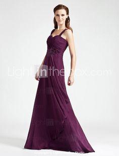 SUPER CUTE BRIDESMAID DRESS. WOULD NEED A GREEN BOW THO..A-line Sweetheart Floor-length Chiffon Bridesmaid Dress - USD $ 128.69