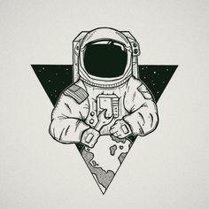 Drawn Astronaut minimalist 1 - 1005 X 1005 Free Clip Art stock illustration Astronaut Drawing, Astronaut Illustration, Astronaut Tattoo, Space Illustration, Tumblr Drawings, Art Drawings Sketches, Cute Drawings, Tattoo Drawings, Tumblr Sketches
