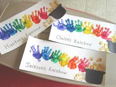 Here are bunch of fun st patricks day handprint footprint and fingerprint crafts for kids to make! Find leprechauns gold rainbows and shamrocks! Here are bunch of fu March Crafts, St Patrick's Day Crafts, Daycare Crafts, Classroom Crafts, Baby Crafts, Holiday Crafts, Daycare Ideas, Infant Classroom Ideas, Crafts For Babies