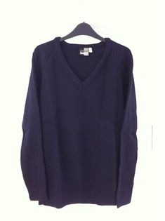 Back To School ZECO Dark Navy Pullover. Size 38. Winter-weight! GAN. Ref 003