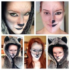 Wolf makeup for halloween by me shrek the musical awesome kitty or wolf make up solutioingenieria Choice Image