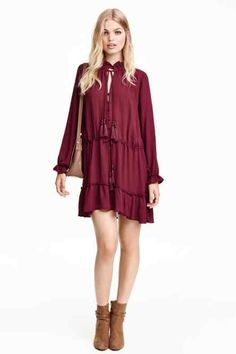 Frilled dress