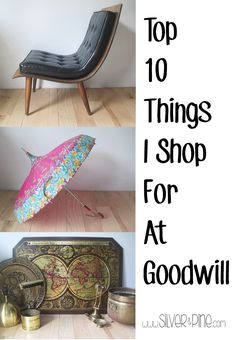 A great list of items to shop for at Goodwill, such good ideas!