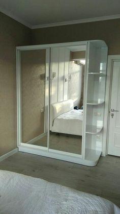 Bedroom Closet Design, Bedroom Furniture Design, Girl Bedroom Designs, Room Ideas Bedroom, Home Room Design, Small Room Bedroom, Home Bedroom, Bedroom Decor, Bedroom Built In Wardrobe