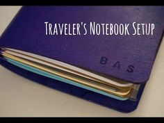 """This is the initial setup of my FoxyDori Traveler's Notebook! My FoxyDori is has a """"quad"""" band set up, so I can fit 4 notebooks in without extra elastic band..."""