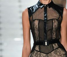 Leather and lace at Jason Wu