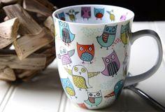 Retro Owls Large Porcelain Mug by Creative Tops   eBay