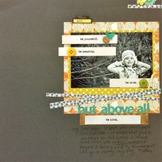 """Above All"" by Stephanie Howell #StudioCalico #layout #SingingInTheRain"