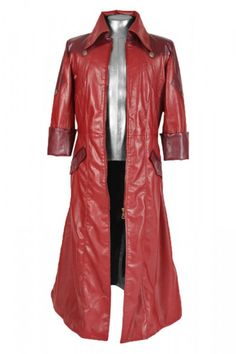 Get into the style of game with the famous action packed movie red leather long coat.  #devilmaycry #dante #red #redlongcoat #leathercoat #fashion #celebrities #halloween #costume #stylish #game #games #halloweenshopping