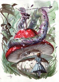 Alice in wonderland Alice In Wonderland Meaning, Alicia Wonderland, Alice In Wonderland Original, Alice In Wonderland Illustrations, Adventures In Wonderland, Lewis Carroll, Tim Burton, Caterpillar Alice In Wonderland, Inspiration Artistique