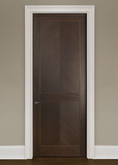 Modern Mahogany Solid Wood Front Entry Door - Single - GDIM-MD4055