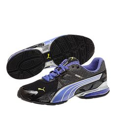 Look at this #zulilyfind! Black & Blue Iris Voltaic 5 Sneaker by PUMA #zulilyfinds