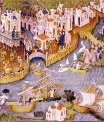 Marco Polo and others leaving for China.