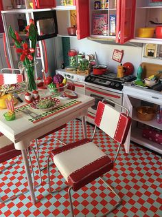 Sunny, Red Retro Kitchen | by Girl Least Likely To