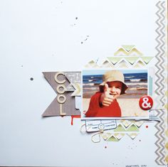Border from cut chevron pattern paper, genius!
