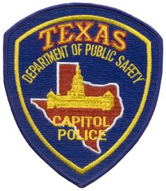 US State of Texas, Capital Police Department Patch