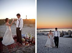 Beach wedding on Tybee Island. This what I hope to do soon, move here and be photographer .... perfect dream job in my book