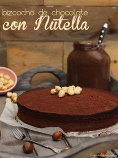 Bizcocho de chocolate con nutella