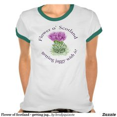 Flower of Scotland - getting jaggy with it! T Shirts