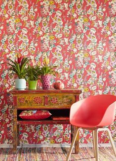 Wallpapers for dining rooms #wallpaperdiningroom #diningroomwallpapers #wallpapers #redwallpapers #flowerwallpapers #countrywallpapers #kitchendesignwallpapers
