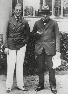 Winston Churchill and his son Randolph