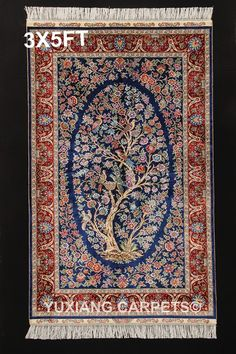 Nanyang Yuxiang Co. China's largest manufacturer of handmade silk carpet. Persian Carpet, Persian Rug, Rugs On Carpet, Carpets, Hand Knotted Rugs, Oriental Rug, Wool, Silk, Antiques