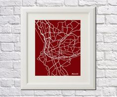 Marseille France Street Map Print Map of by ArtPrints4All on Etsy
