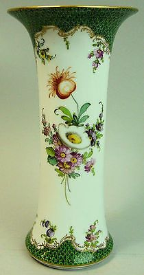 Fine Antique Dresden Hand Painted Floral Porcelain Vase C.1890
