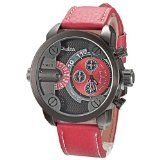 Mudder OULM Sport Fashion Dual Time Zone Analog Genuine Band Mens Wrist Watch Red- http://www.siboom.co.uk/compare-prices-compare-prices-jewellery-watches_c109814.html.html?catt=compare-prices-jewellery-watches&k=Fashion+men+watches&ppa=4 Big round dial  Sport casual  Two time zone display  Japanese movement  Features 100 OULM Brand new never used high quality Japanese movement Precise quartz movement for accurate time keeping 3 small dial 2