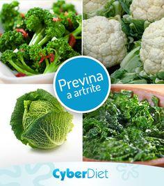 Brócolis, couve-flor, repolho e couve possuem uma substância chamada sulforafano que ajuda a proteger as articulações, diminuindo o risco de artrite e artrose! http://maisequilibrio.com.br/brocolis-pode-ajudar-a-prevenir-a-artrite-5-1-4-634.html?origem=Pinterest