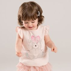 Aliexpress.com : Buy Brand children girl clothing kids baby girl summer tees short sleeve Cartoon Bear infant toddler girl tee t shirts cotton tees from Reliable girls tees suppliers on QieKeKids Store