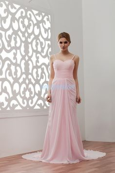 free shipping prom gown 2015 hot sale sexy new design custom train long evening dress with jacket chiffon pink Formal dresses -- Check this awesome product by going to the link at the image.