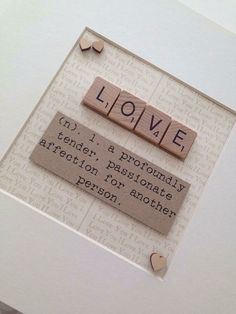 LOVE Scrabble Box Frame by NoahsArtFrames on Etsy