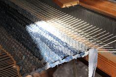 Marvael. Try weaving denim on a DIY loom