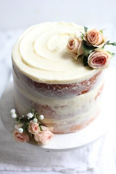 "Sometimes I realize that baking can be like art that I so enjoy creating, (and then eating!) Recently I have discovered the rustic simplicity that is a naked cake and I can't get enough. What is a ""na"