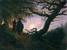Man and Woman Contemplating the Moon (c.1824) Caspar David Friedrich (German, 1774 – 1840) Oil paint on canvas, 34 x 44 cm Nationalgalerie, Staatliche Museen zu Berlin (Germany)