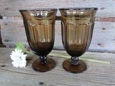 2  Vintage Noritake Provincial Brown Ice tea by polkadotsandcurls $20 plus $12.95