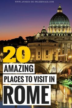 20 amazing things to do in Rome, TRAVEL, A massive list of the 20 best things to do in Rome From the Vatican to the Colosseum - this Rome travel guide will provide you with the top poin. European Vacation, Italy Vacation, European Travel, Vacation Trips, Venice Travel, Rome Travel, Italy Travel Tips, Travel Guide, Travel Destinations