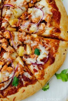 This Hawaiian BBQ Chicken Pizza is my family's favorite! I use our tried and true HOMEMADE PIZZA DOUGH and pile on all the toppings. Barbecue sauce, chicken, mozzarella cheese and a few more goodies that make this pie outstanding.  We have a pizza night almost once a week at our house. Usually on Friday or... Read More »