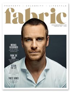 Photo of Fabric magazine cover february 2012 for fans of Michael Fassbender 31111638 Design Poster, Graphic Design Layouts, Graphic Design Inspiration, Print Design, Magazine Cover Layout, Magazine Front Cover, Magazine Covers, Editorial Layout, Editorial Design