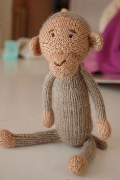 Free Ravelry Knitting Pattern: Monkey Moo Doll by Nap Knits, via Flickr