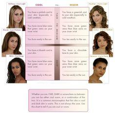 Deciding cool or warm facial tones
