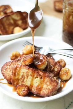 Paleo French Toast with Fried Bananas and Salted Coconut Caramel