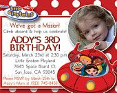 Customized Little Einsteins Birthday Invitation with Photo Included. $7.99, via Etsy.